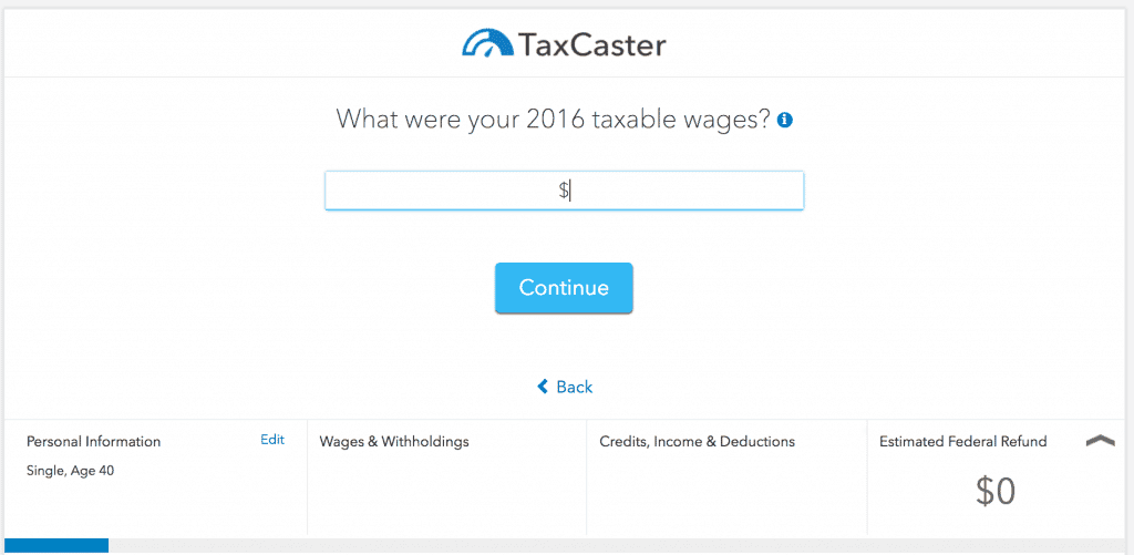 Turbotax Taxcaster
