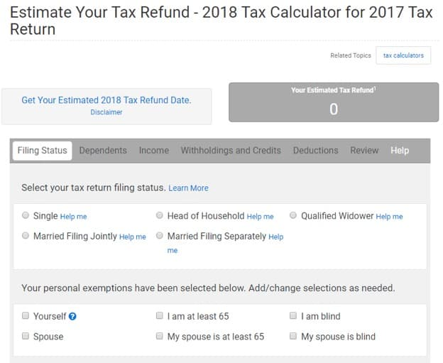 how to calculate my tax return 2018